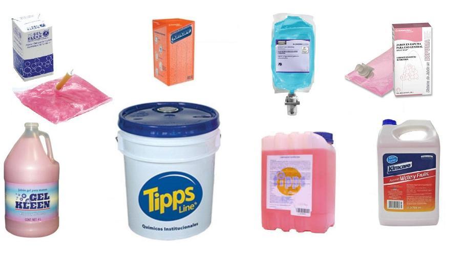 gabón gel granel, antibacterial, espuma