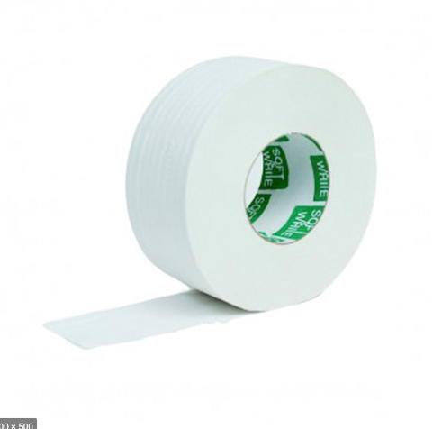 Higiénico jumbo master de 500 metros soft and white